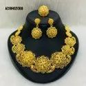 Indian Traditional Gold Plated Bridal Necklace Earrings Jewellery Set For Girls Women