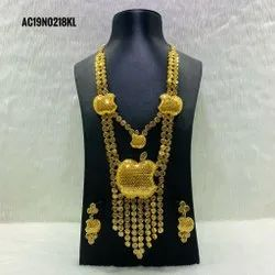 Necklace Earrings Wedding Bridal Jewelry Set Indian Gold Jewellery