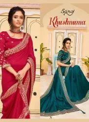 Designer Vichitra Dyed Saree