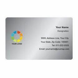 PVC Brush Silver Visiting Card