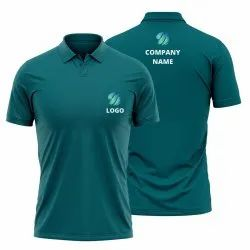 Teal Green Blue Customised Polo Shirt