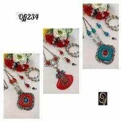 western long necklace set