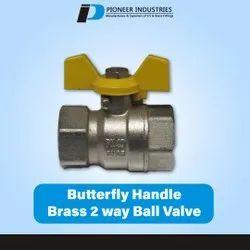 Butterfly Handle 2 Way Brass Ball Valve