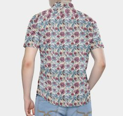 Men Cotton Printed Half Sleeve Shirt, Party Wear