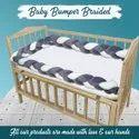 Braided Cot Bumper, Baby Crib Bumper Handmade 250 cm