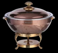 Rose Gold/Black Titanium Finished Grand Round Lift Top Chafer
