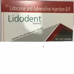 Lidocaine Hydrochloride 2% and Adrenaline 1:80000 Injection BP