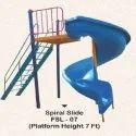outdoor playground spiral slide 7ft