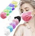 Disposable Medical Surgical Face Mask With Nose-Pin (Multicolor, Free Size, Pack of 100, 3 Ply)