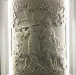 Radha Krishna Stone Mural Designs