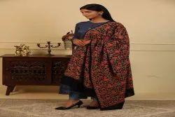 Womens's Multi Colour All Over Embroderi Jama Shawl
