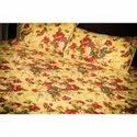 King Size 3 Layered Cotton Filled Machine Quilted Block Print Bed Cover (comforter).