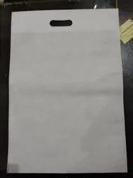 Plain White Non Woven D Cut Bag, For Shopping