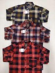 Boys Regular Wear Pure Cotton Check Shirt