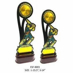 Wooden Cricket Trophy