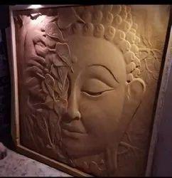 Buddha Face Wall Mural