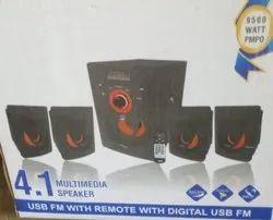 Black 4.1 Multimedia Speakers