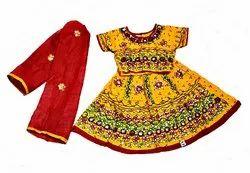 Yellow Cotton Kids Ghagra Choli, Size: 16 To 30