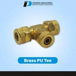 Brass PU Tee