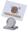 Coin Shape Menu Card/Name Card Holder
