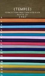 Cotton Linen Yarn Dyed Shirting Fabric