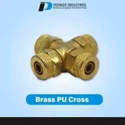 Brass PU Cross