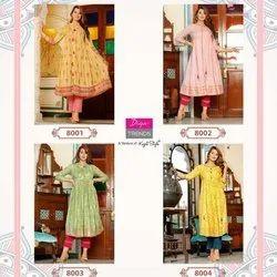 Diya Trends Ethnicity Kajal Style Kurti Wholesale 8 Pcs