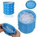 portable reusable silicone ice bucket