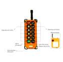 F24 - BB Telecrane Radio Remote Control Model : F24-BB Multitech Systems