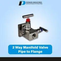 2 Way Manifold Valve Pipe To Flange