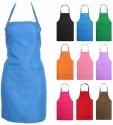Cotton Plain Cooking Apron, For Kitchen Usage, Size: 31