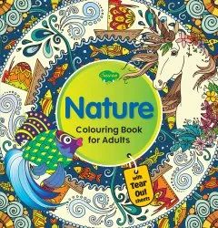 Nature Colouring Book For Adult With Tear Out Sheets