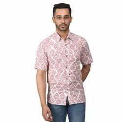 Men Printed Half Sleeve Shirt