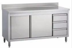 Stainless Steel Parallel Shape Restaurant Kitchen Furniture