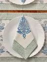 Indian Hand Block Printed Set Of 6 Place Mats And Napkins
