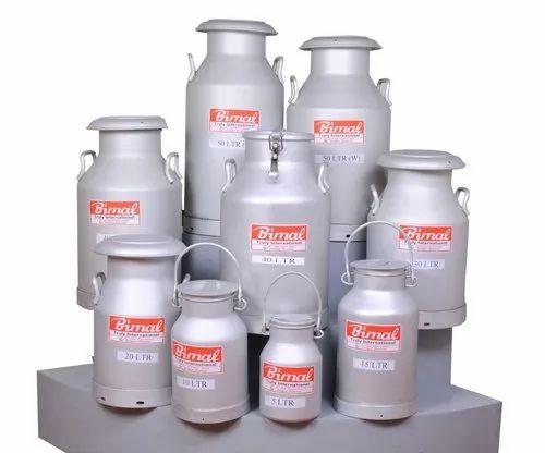 Aluminium Milk Cans 40 Liters