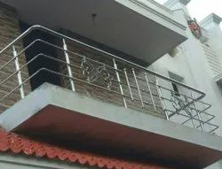 StainleSS Steel SS Balcony Railings, For Home, Mounting Type: Floor