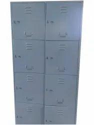 Key Lock Mild Steel Office Staff Locker, No Of Lockers: 8