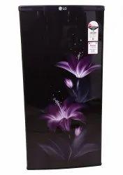 Purple With Flower Print Auto LG 190 L Single Star I Direct-Cool Single Door Refrigerator