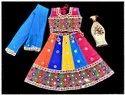 Cotton Festive Wear Girls Kids Lehenga Choli