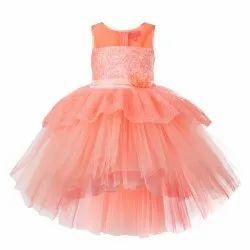 TBJN21-04PC Toy Balloon Kids Girls Peach Dress