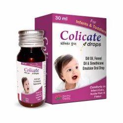 Colicate Drops - Simethicone Emulsion 40mg ,Dill Oil 0.005ml ,Fennel Oil 0.0007ml