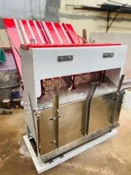 Stainless Steel(SS) Double Side Slicer, Bread Cutter, Rusk Cutter: 650 To 700 Loaf Per Hr, For Bakery