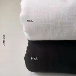 Plain Cotton Slub Fabric