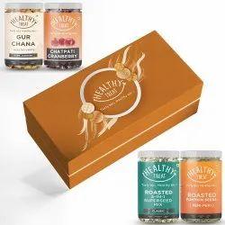Healthy Treat Jolly Gift Box, Pack of 4 Healthy Snacks , Diwali Combo Gift Hamper