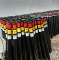Round Pipe Delineators with Reflective Tape