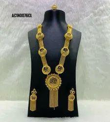 Indian Style New Design Golden color necklace set