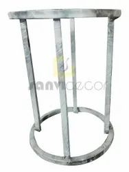 Round Polished 3feet Stainless Steel Stool Frame, For Home