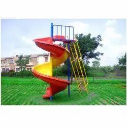 outdoor playground spiral slide 10ft