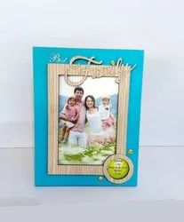 Turquoise Fancy Wooden Photo Frame For Gift, Size: 7 By 5